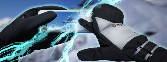 Handskar för touchscreens