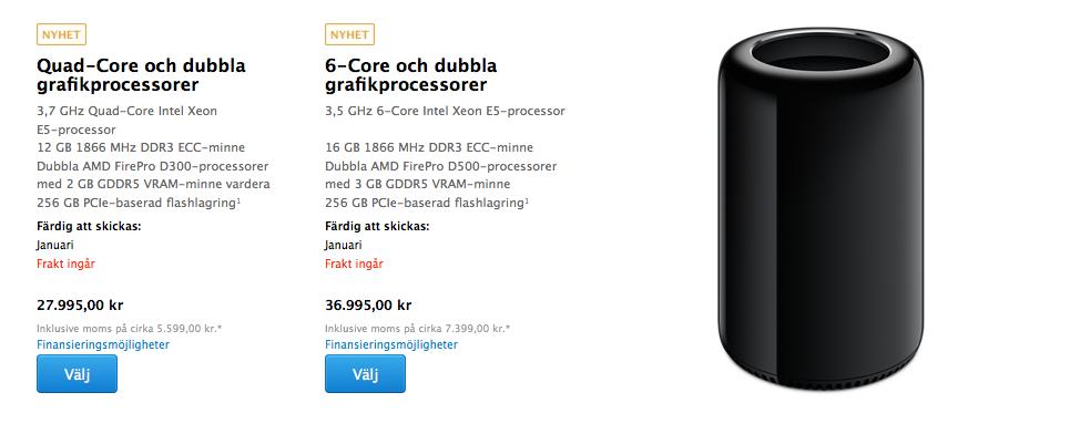 Priser Mac Pro