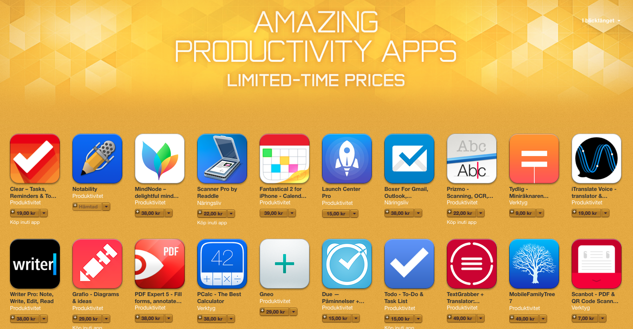 Amazing Productivity Apps